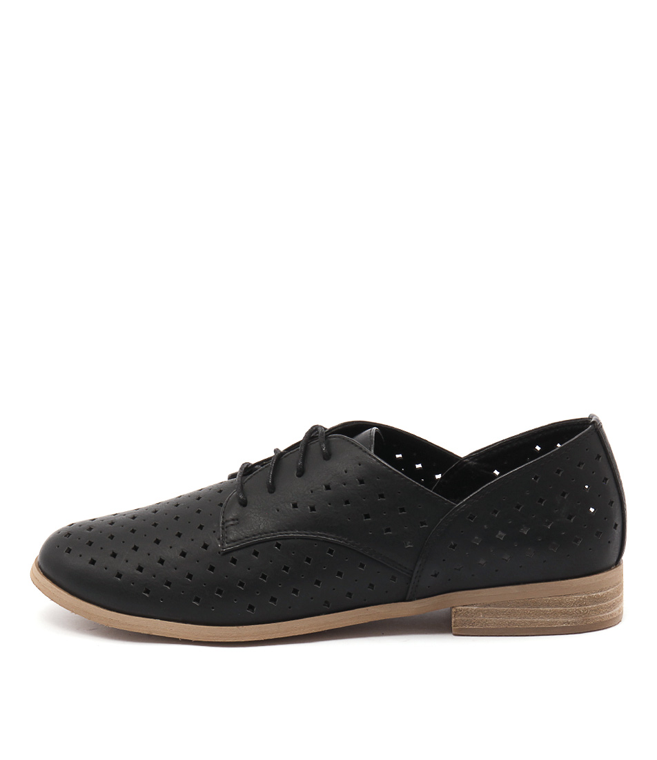 I Love Billy Quincey Black Casual Flat Shoes