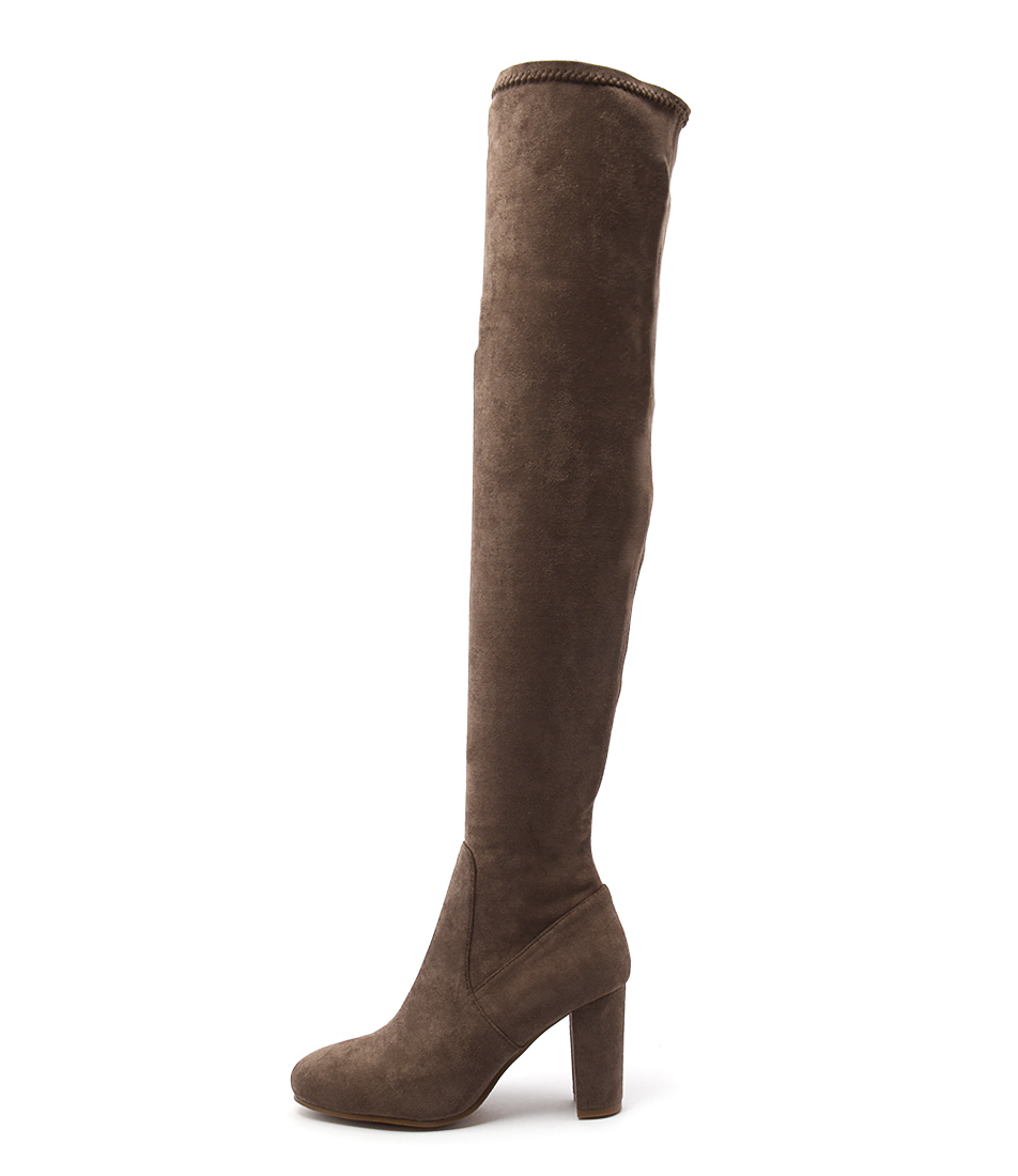 I Love Billy Maddie Taupe Casual Long Boots