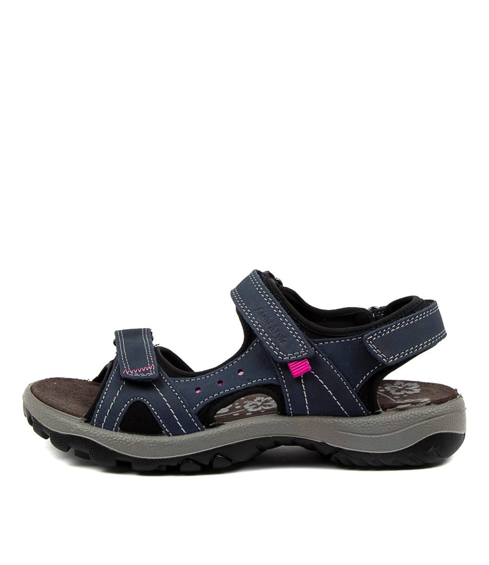 Buy Imac Spa Hessa Im Lt Blue Black Flat Sandals online with free shipping