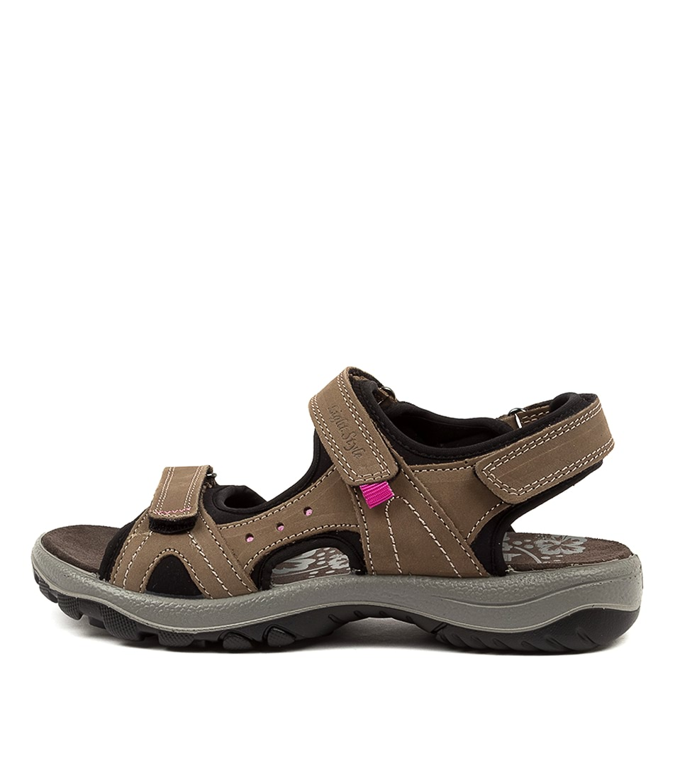 Buy Imac Spa Hessa Im Brown Black Flat Sandals online with free shipping