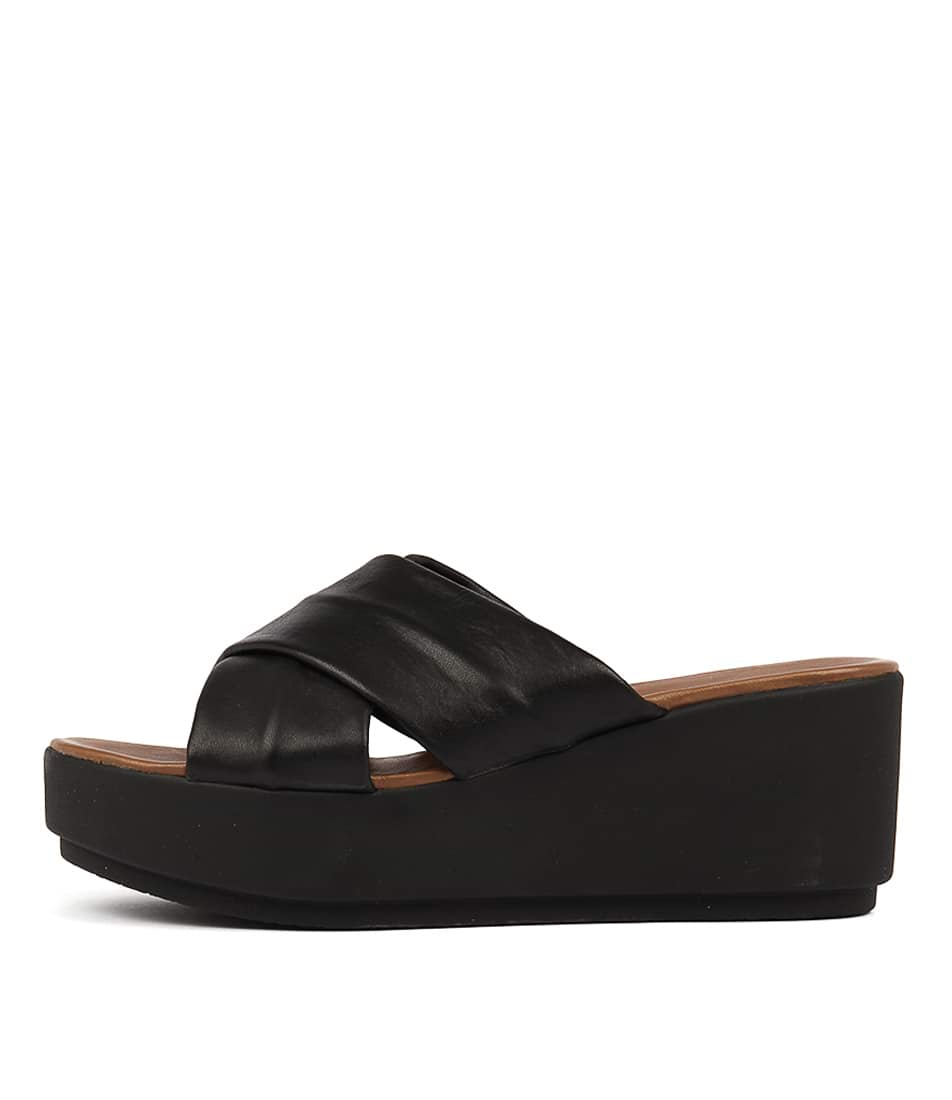 Inuovo 7111 Black Heeled Sandals