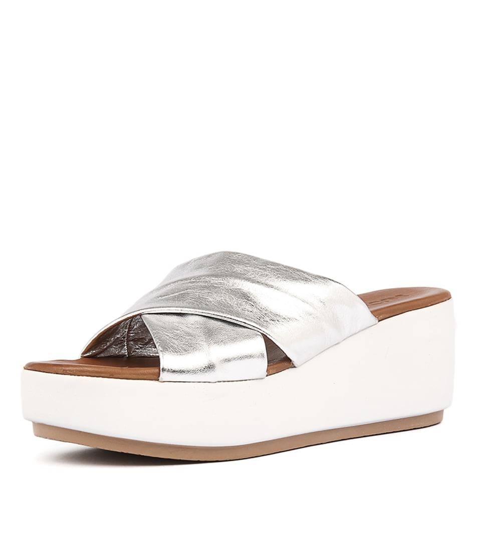 Inuovo 7111 Silver Heeled Sandals