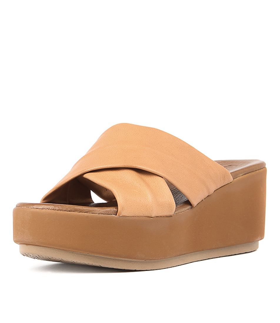 Inuovo 7111 Coconut Casual Heeled Sandals
