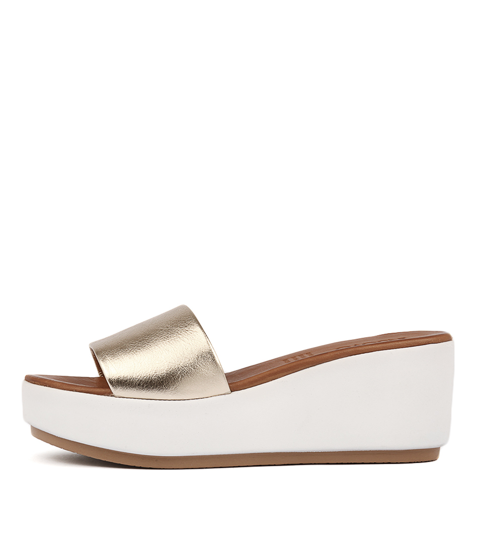 Inuovo 7112 Gold Heeled Sandals