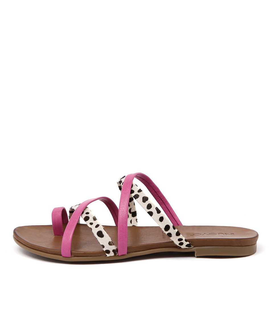 Inuovo Nice Fuxia Cheetah Sandals