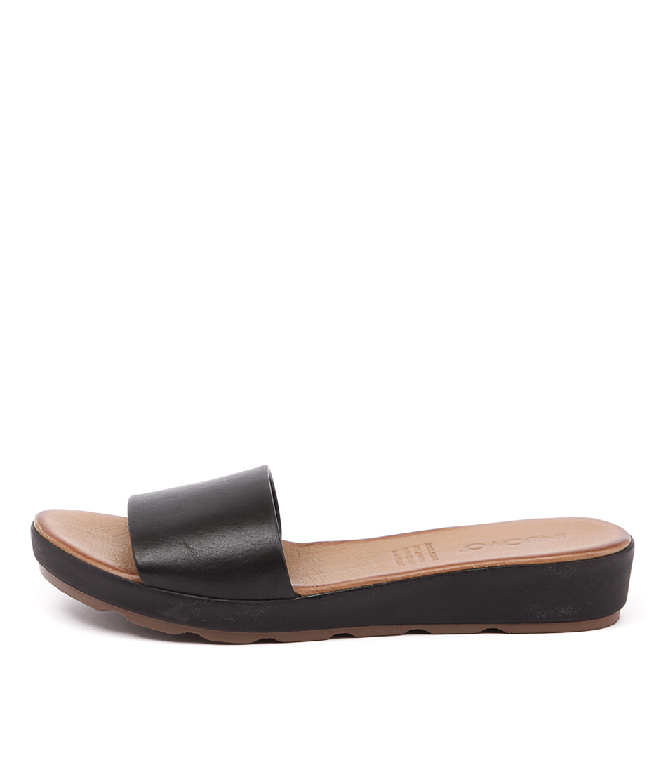 Inuovo Bultina Black Casual Flat Sandals