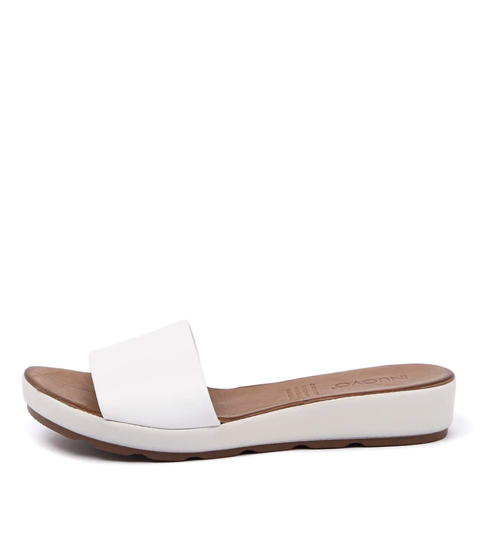 Inuovo Bultina White Casual Flat Sandals