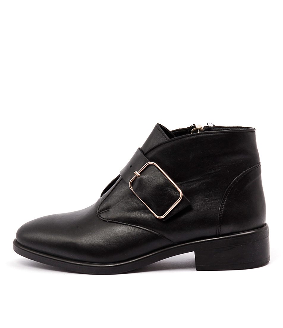 Inuovo Loureed Black Ankle Boots