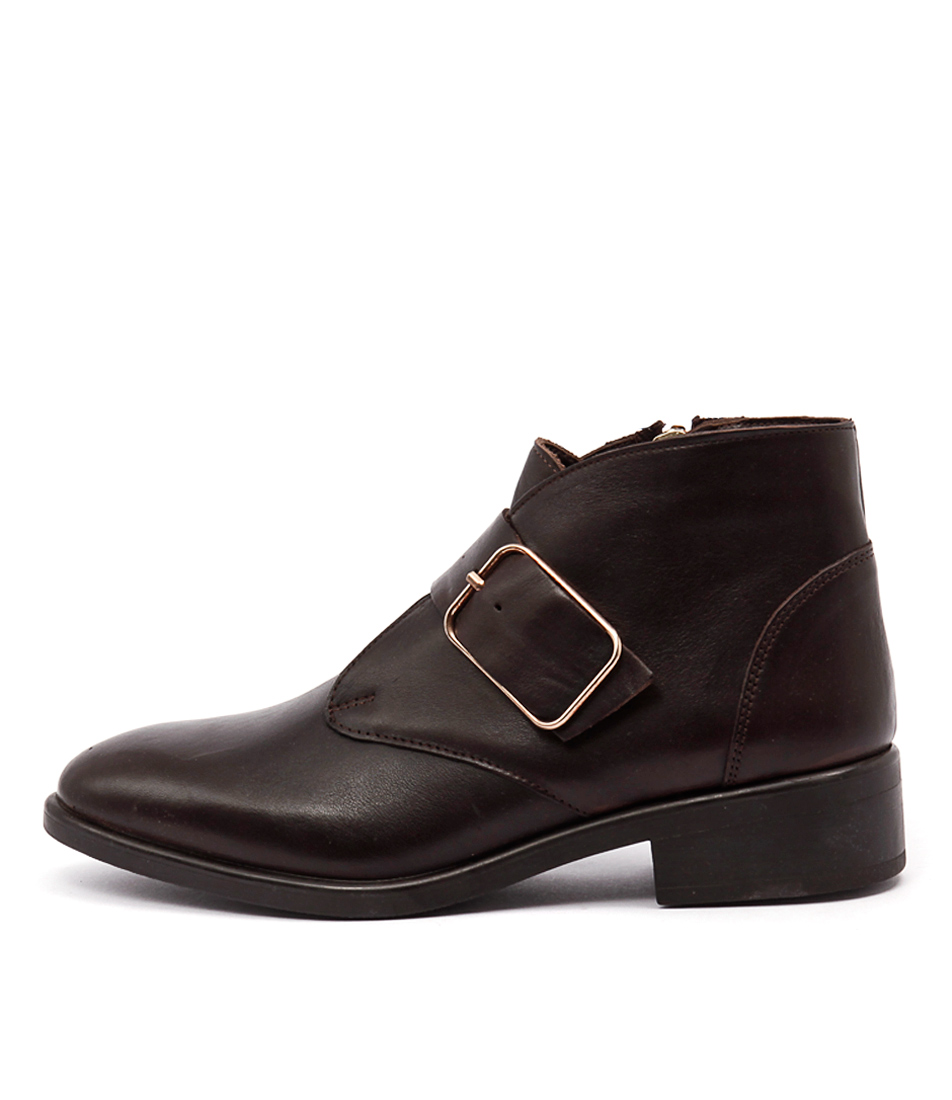 Inuovo Loureed Dark Brown Ankle Boots