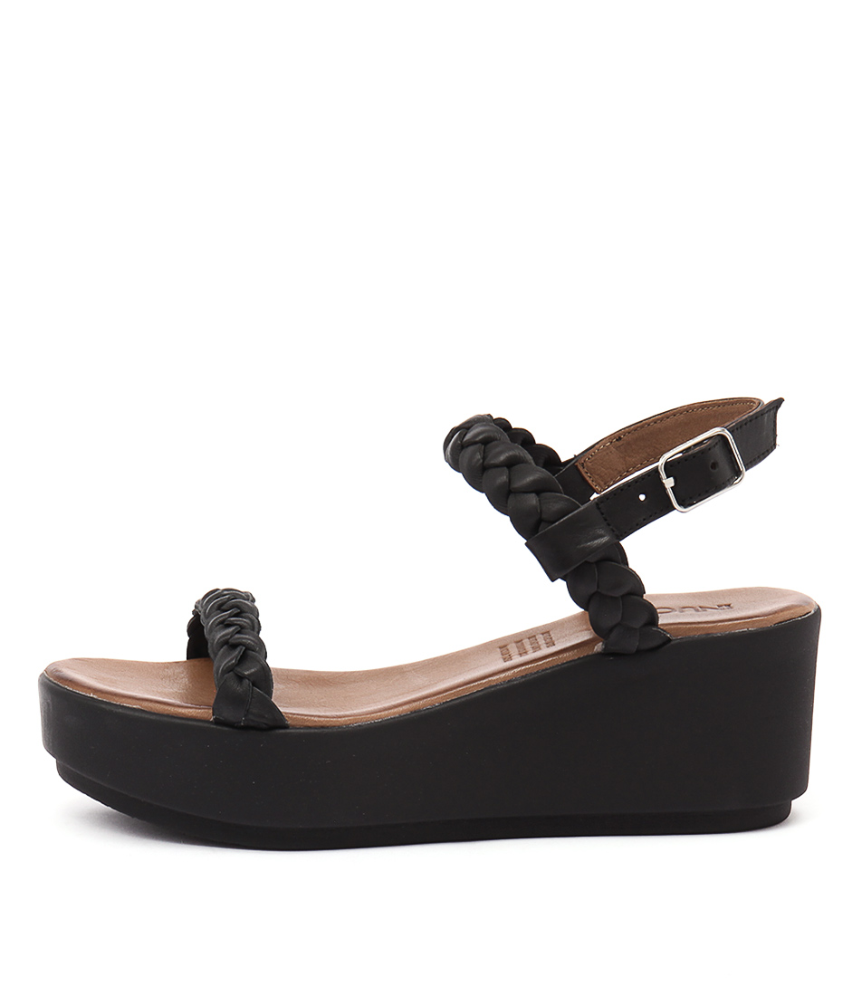 Inuovo Carribean Black Heeled Sandals
