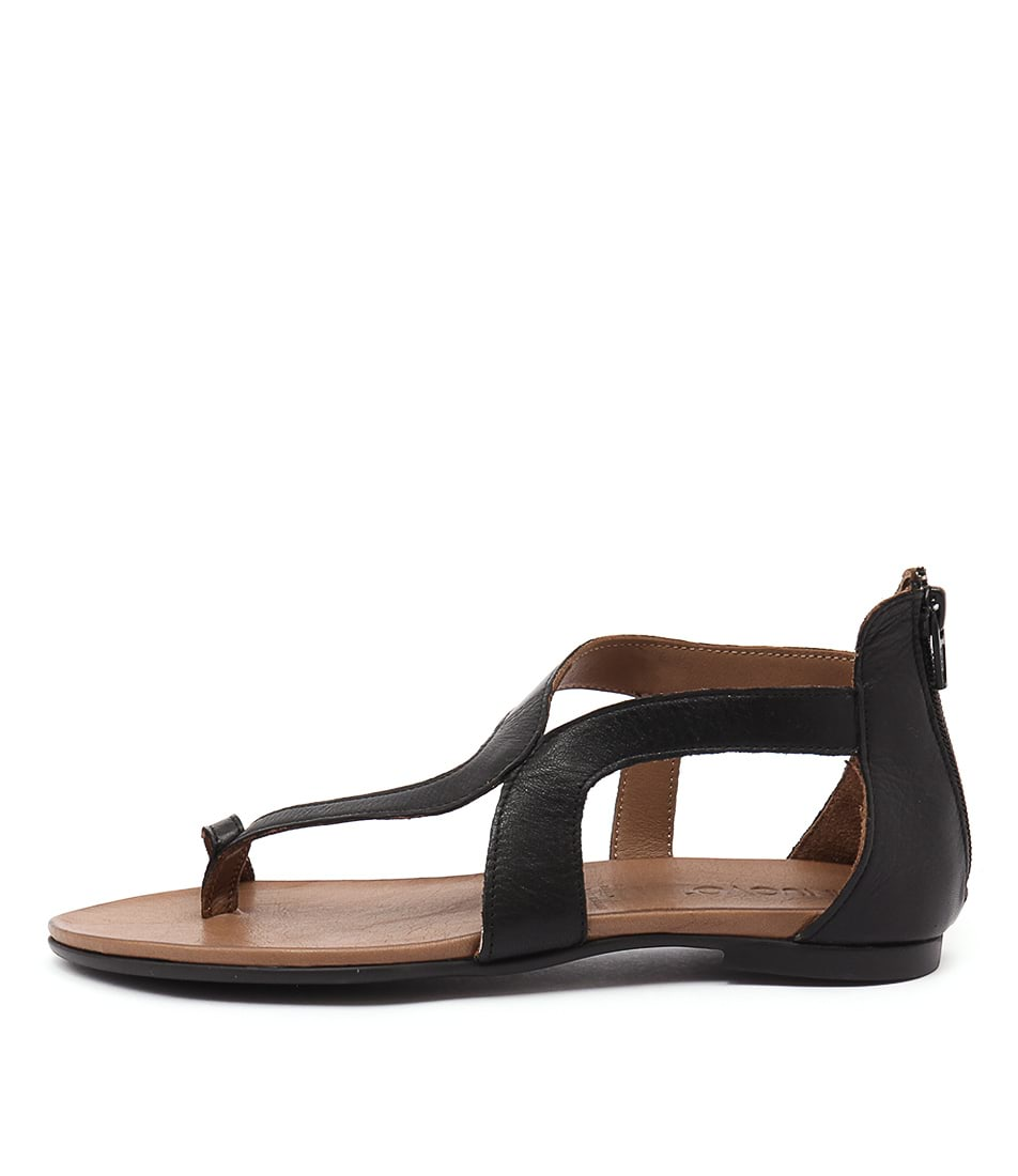 Inuovo Samos Black Casual Flat Sandals
