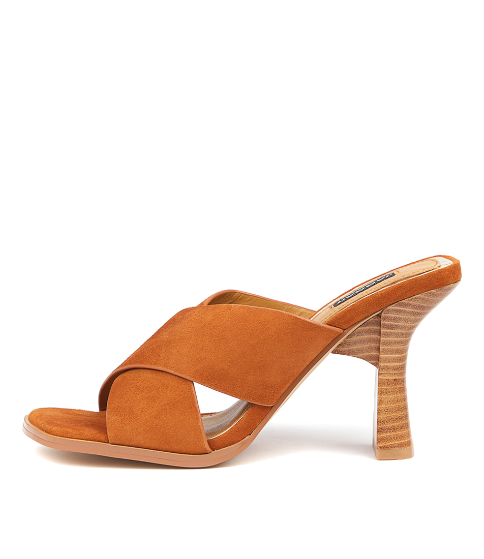 Buy Jaggar Crossed Heel Butterscotch Heeled Sandals online with free shipping