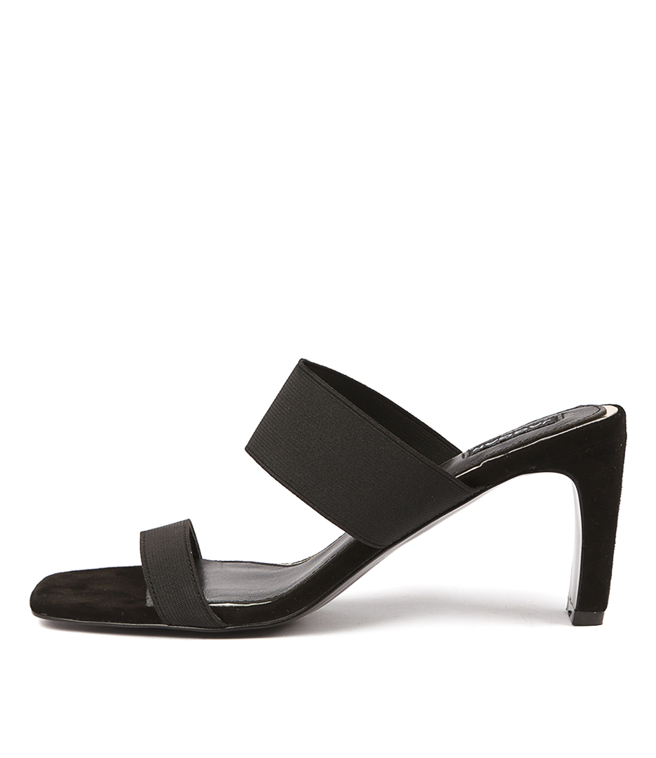 Buy Jaggar Dynamic Elastic Heel Black Heeled Sandals online with free shipping