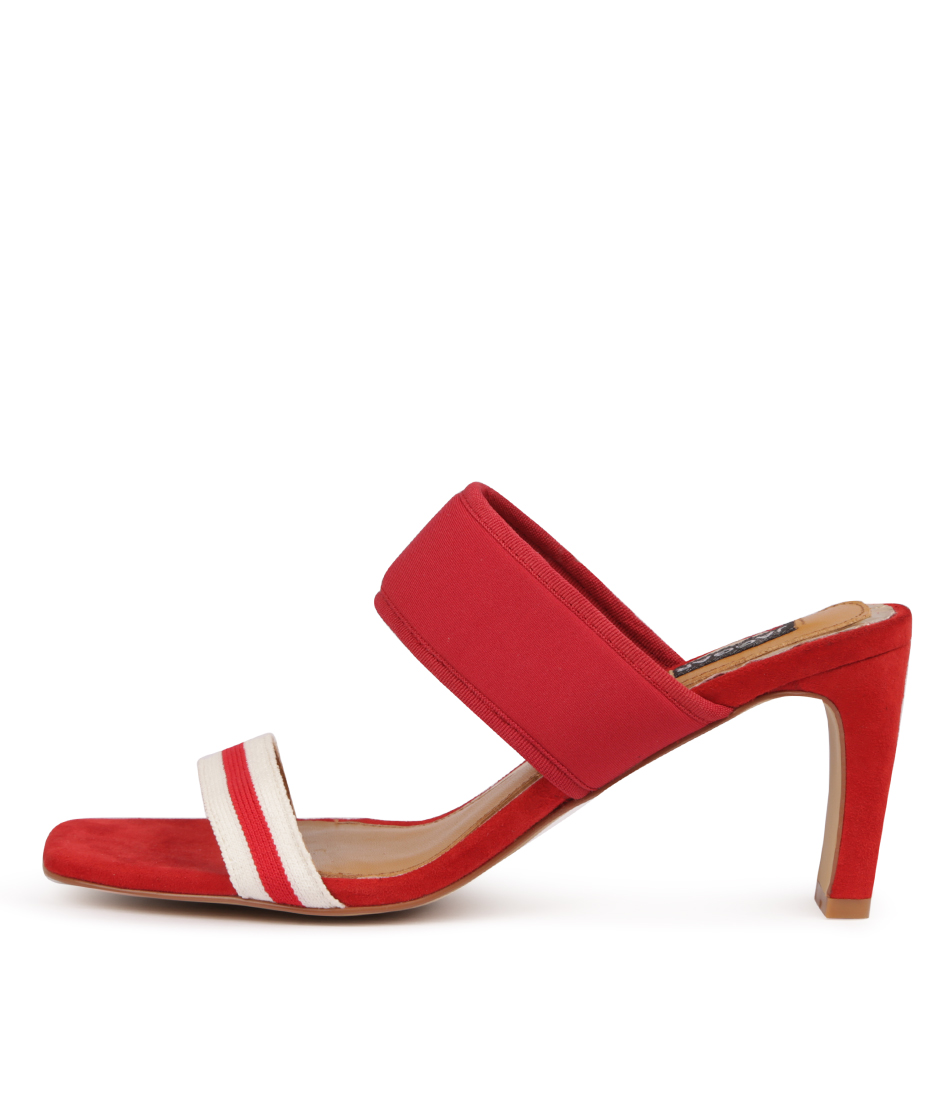 Buy Jaggar Dynamic Stripe Heel Scarlet Heeled Sandals online with free shipping