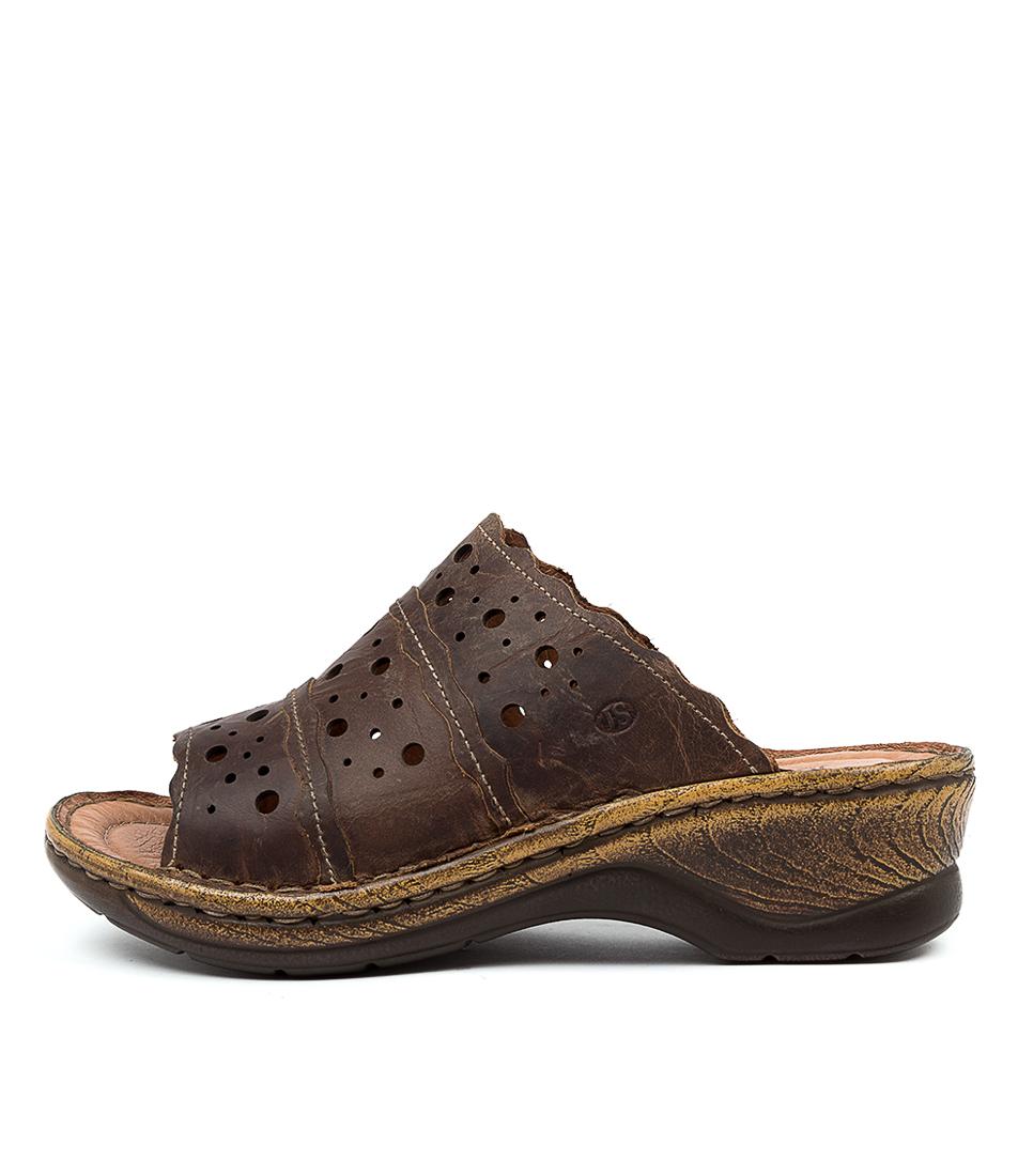 Buy Josef Seibel Catalonia 43 Js Brandy Flat Sandals online with free shipping