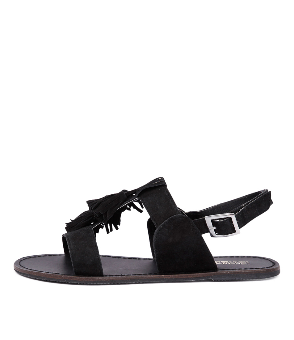 Just Because Diaz Black Sandals