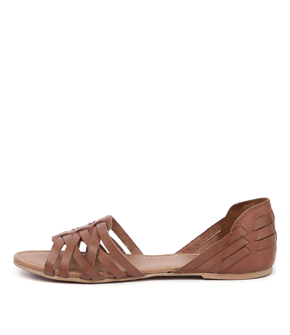 Just Because Kairo Tan Casual Flat Sandals