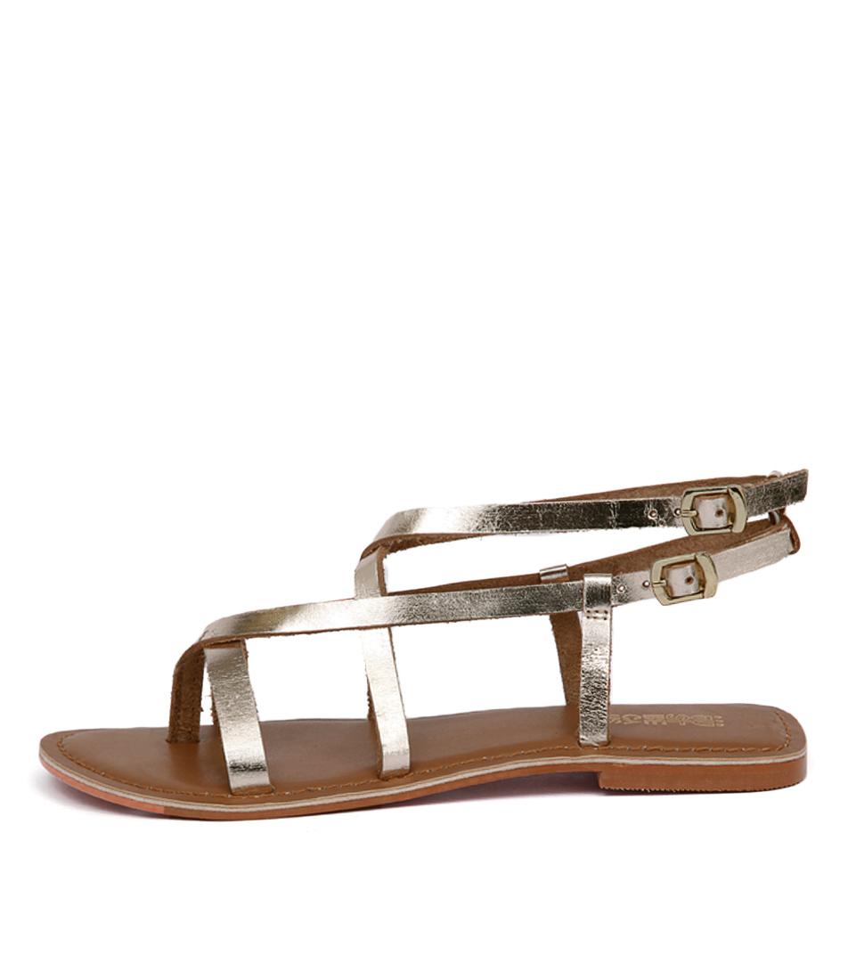 Just Because Latina Jb Soft Gold Sandals