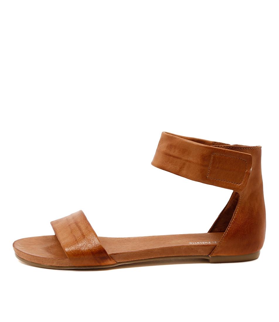 Photo of Django & Juliette Juzz Tan Flat Sandals womens shoes