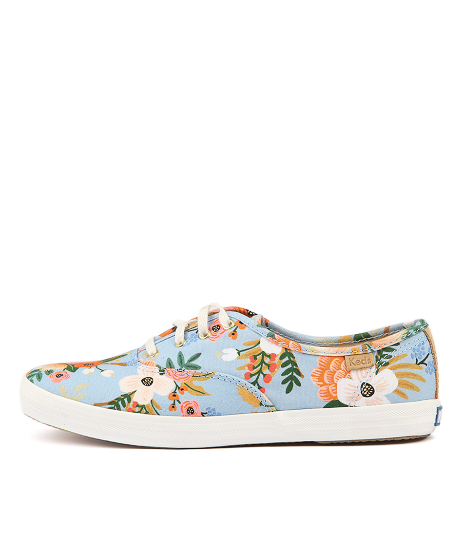 Keds Champion Lively Floral Periwinkle Sneakers