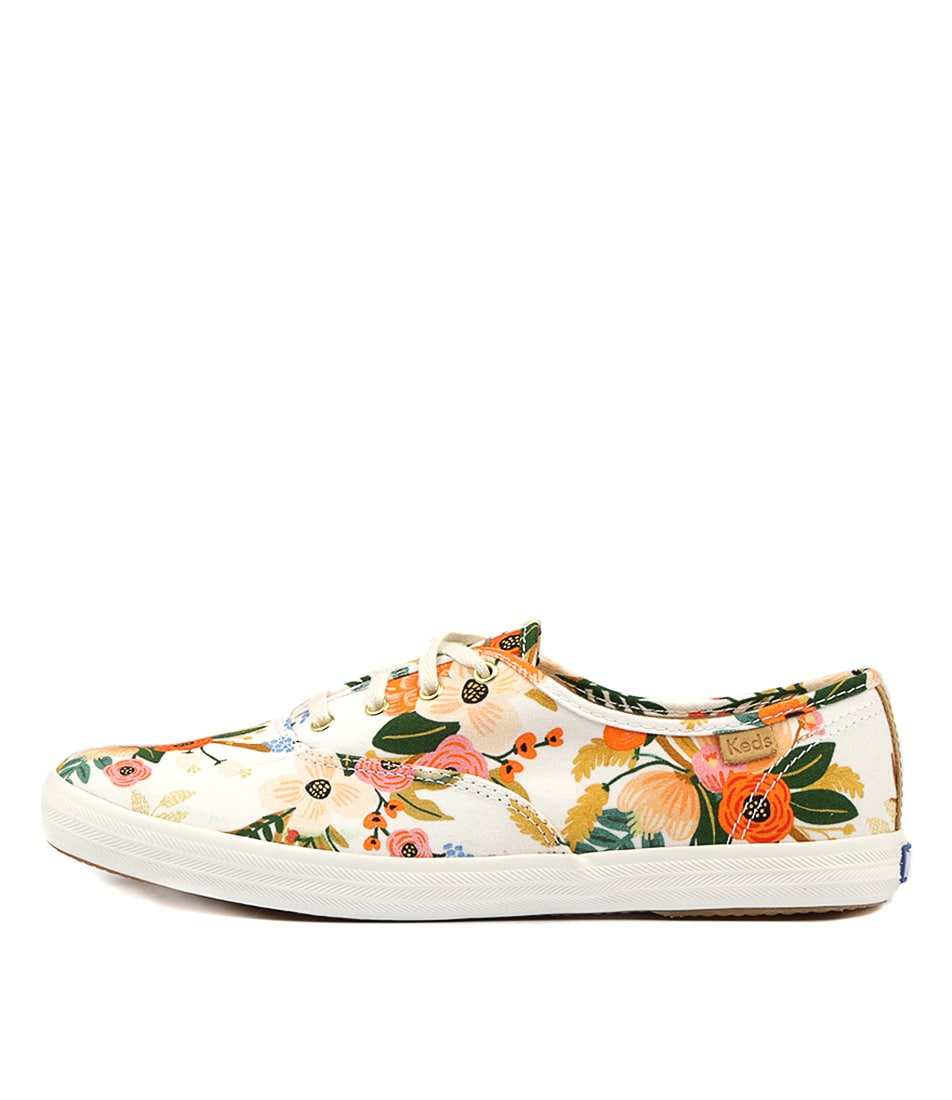 Keds Champion Lively Floral White Sneakers