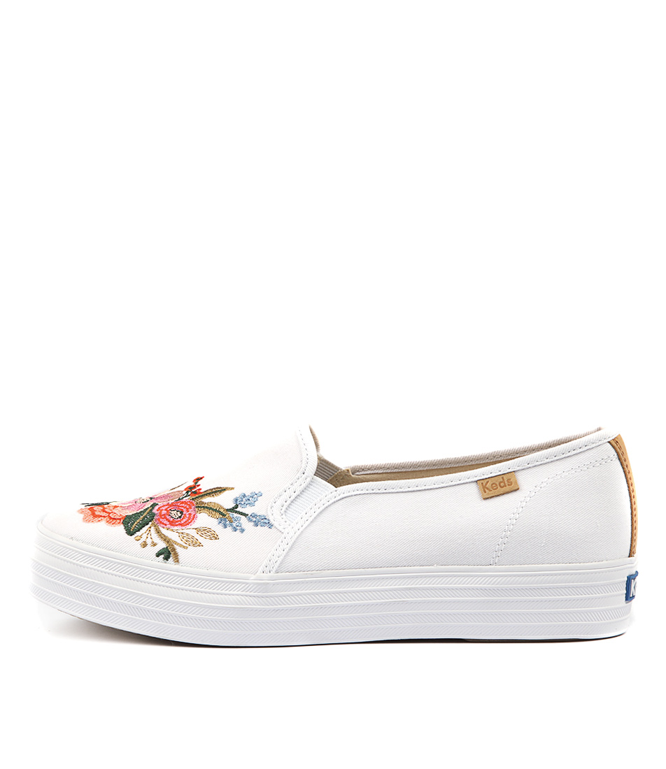 Keds Triple Decker Lively Emb White Sneakers