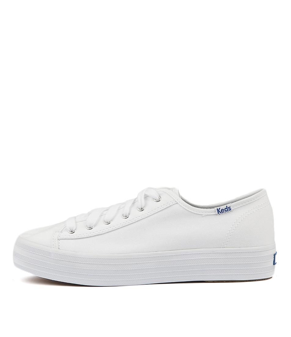 Keds Triple Kick Canvas White Sneakers