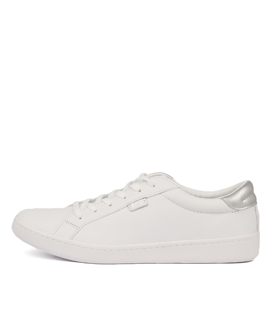 Keds Ace White Silver Sneakers