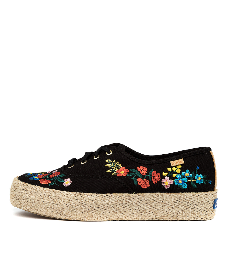 Buy Keds Triple Rifle Paper Ke Wild Wood Black Sneakers online with free shipping