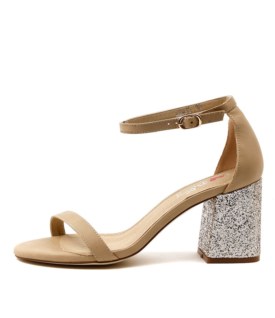 I Love Billy Kenjo Latte Platinum Dress Heeled Sandals