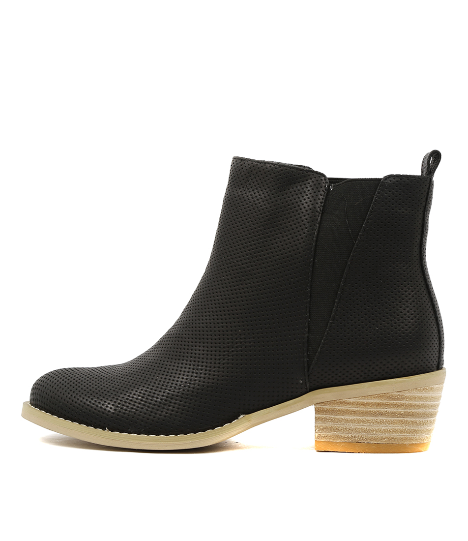 Ko Fashion Ellery W Black Casual Ankle Boots