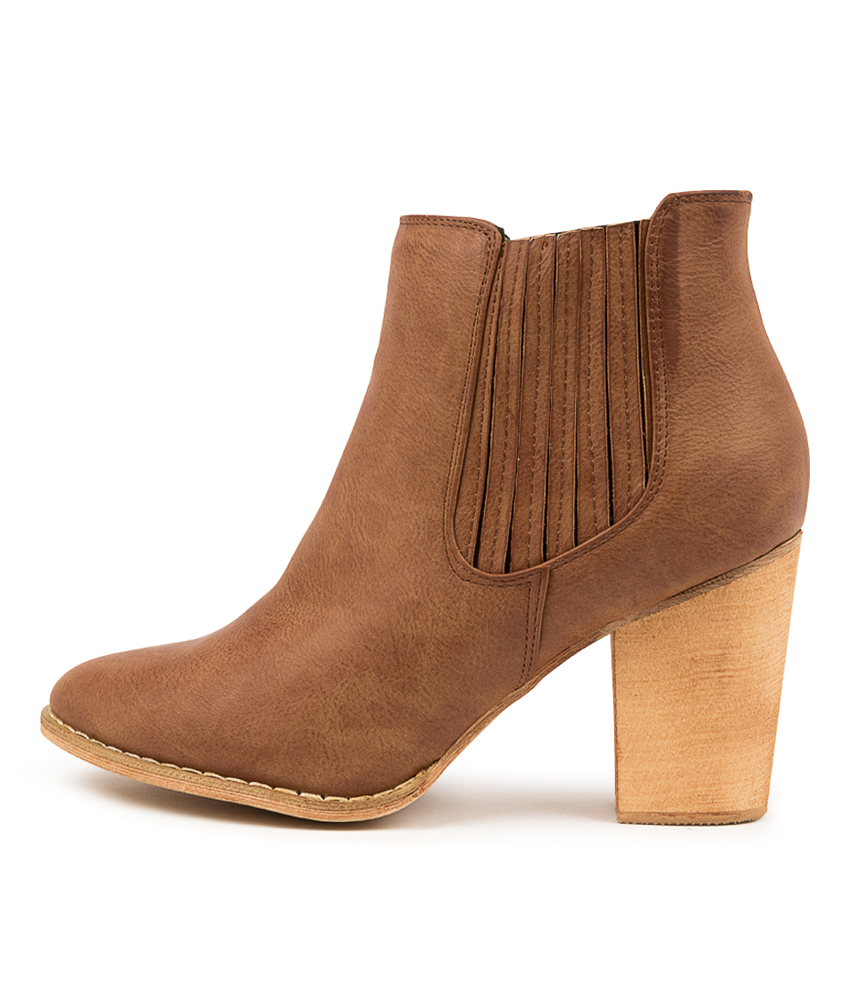 Buy Ko Fashion Anika Tan Ankle Boots online with free shipping