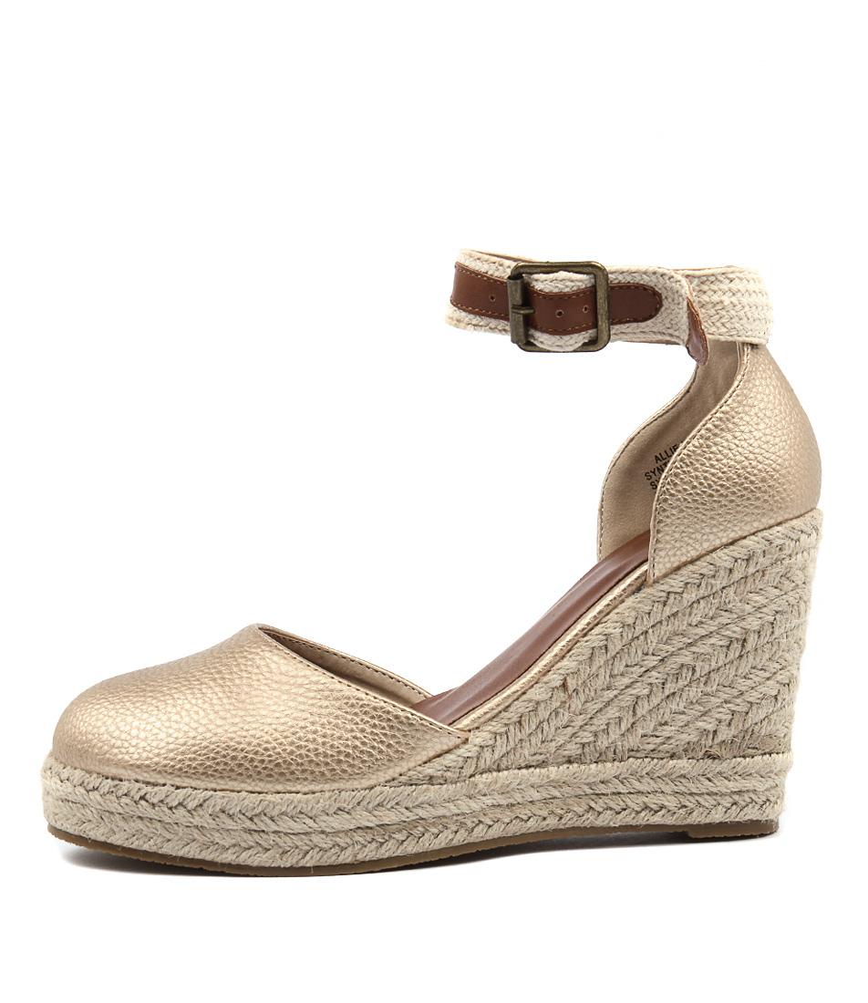 Ko Fashion Allie Gold Grain  Heels