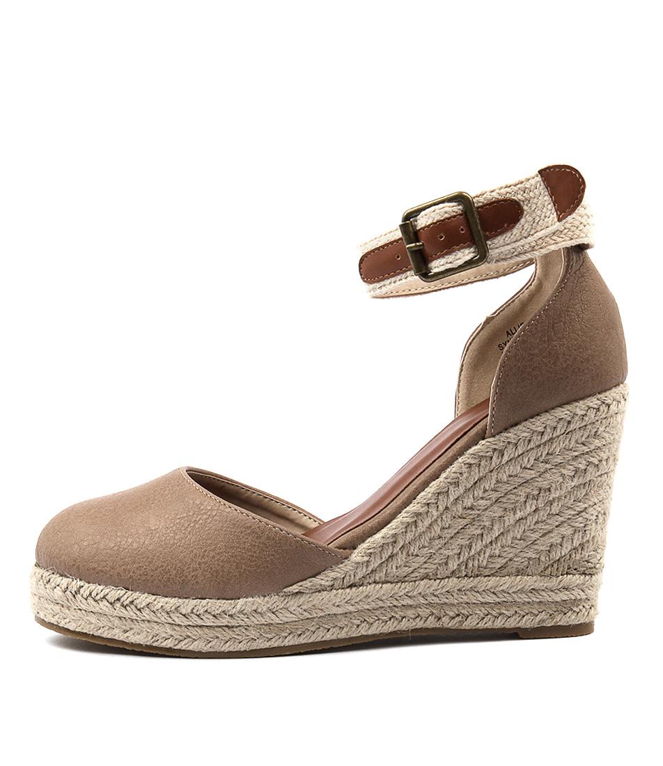 Ko Fashion Allie Taupe High Heels