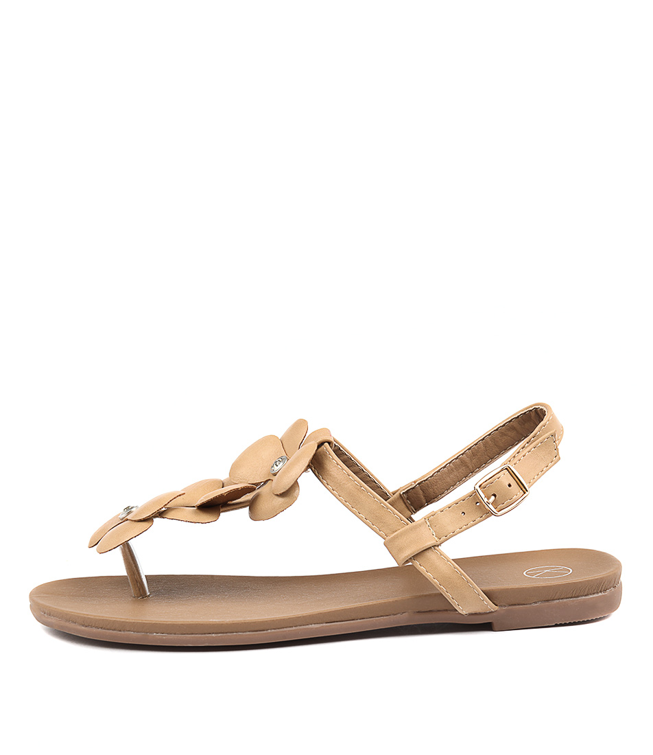 Ko Fashion Gomez Kf Beige Casual Flat Sandals
