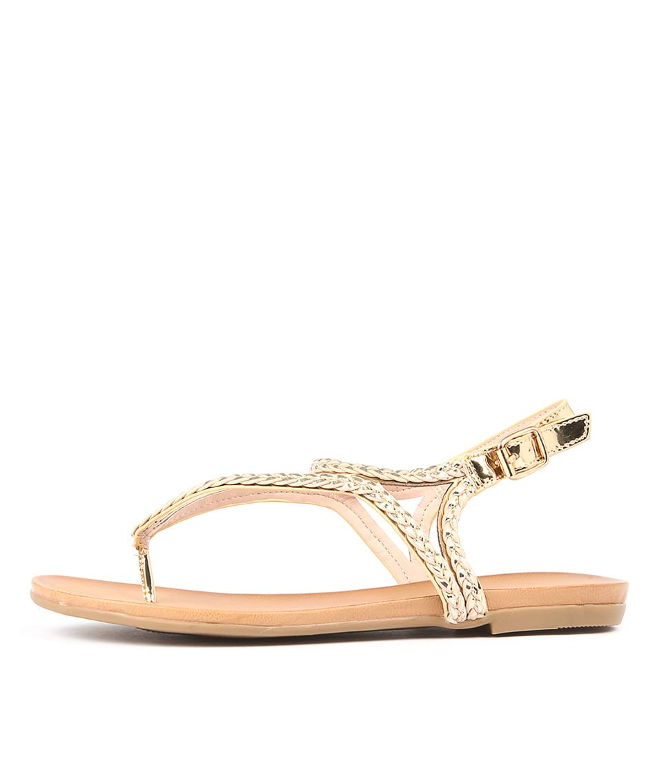 Ko Fashion Kalisey Soft Gold Sandals