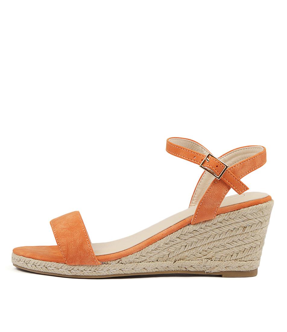 Ko Fashion Amos Kf Orange Heeled Sandals