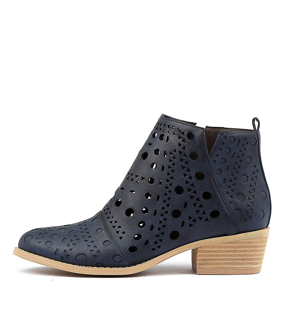 Ko Fashion Equake W Indigo Ankle Boots