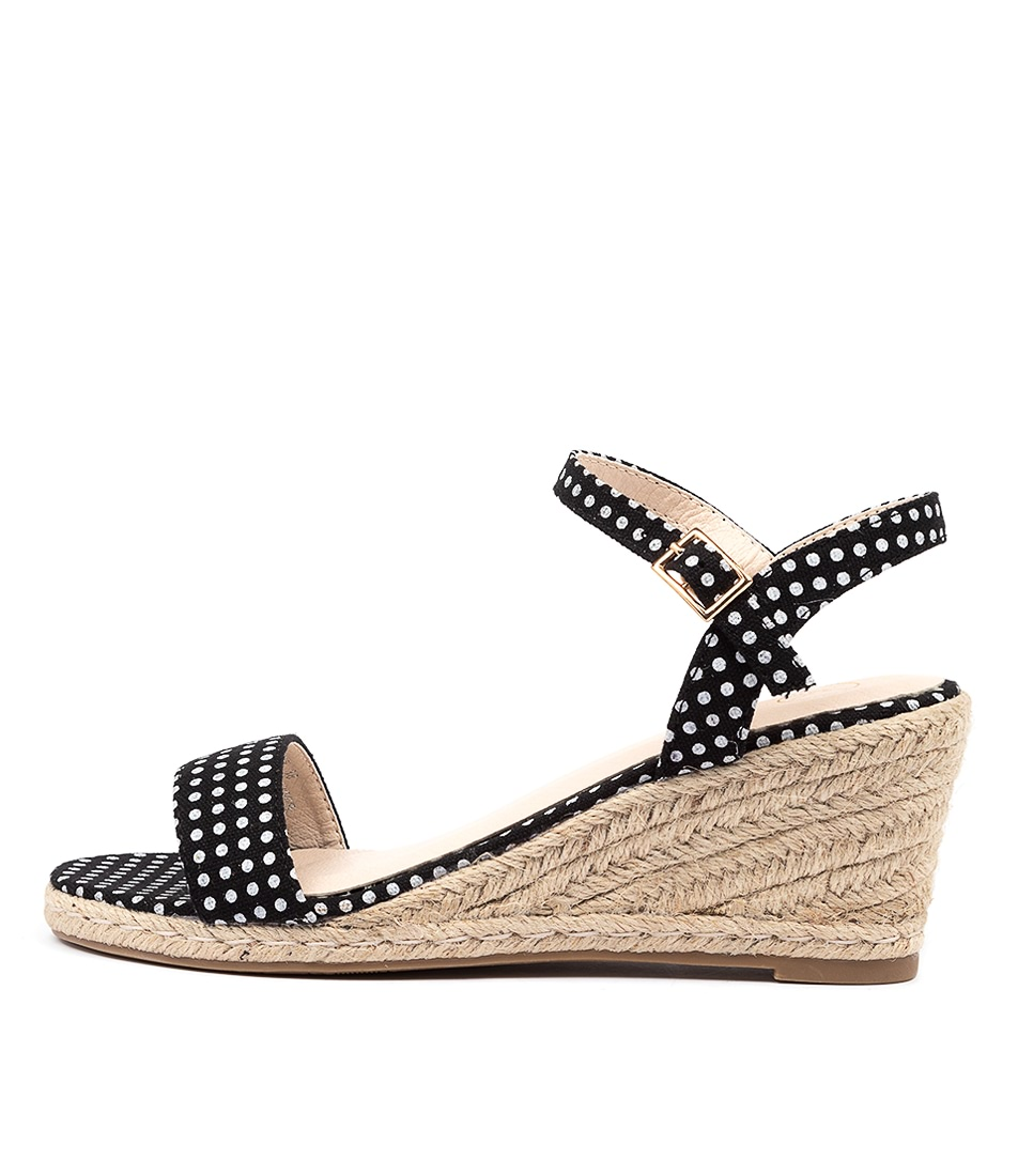 Buy Ko Fashion Amos W Black Spot Heeled Sandals online with free shipping