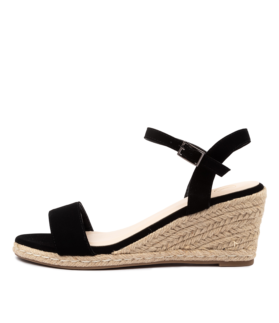 Buy Ko Fashion Amos W Black Heeled Sandals online with free shipping