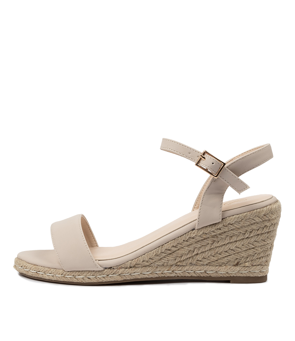 Buy Ko Fashion Amos W Beige Heeled Sandals online with free shipping