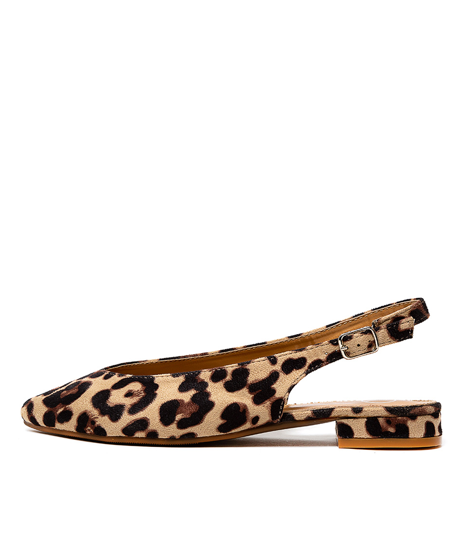Buy Ko Fashion Pippa Kf Beige Leopard Flats online with free shipping