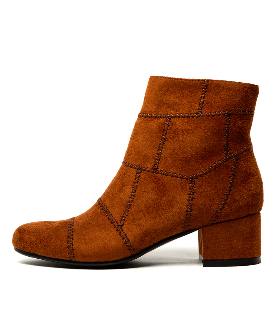 Buy Ko Fashion Georgie Kf Rusty Brown Ankle Boots online with free shipping