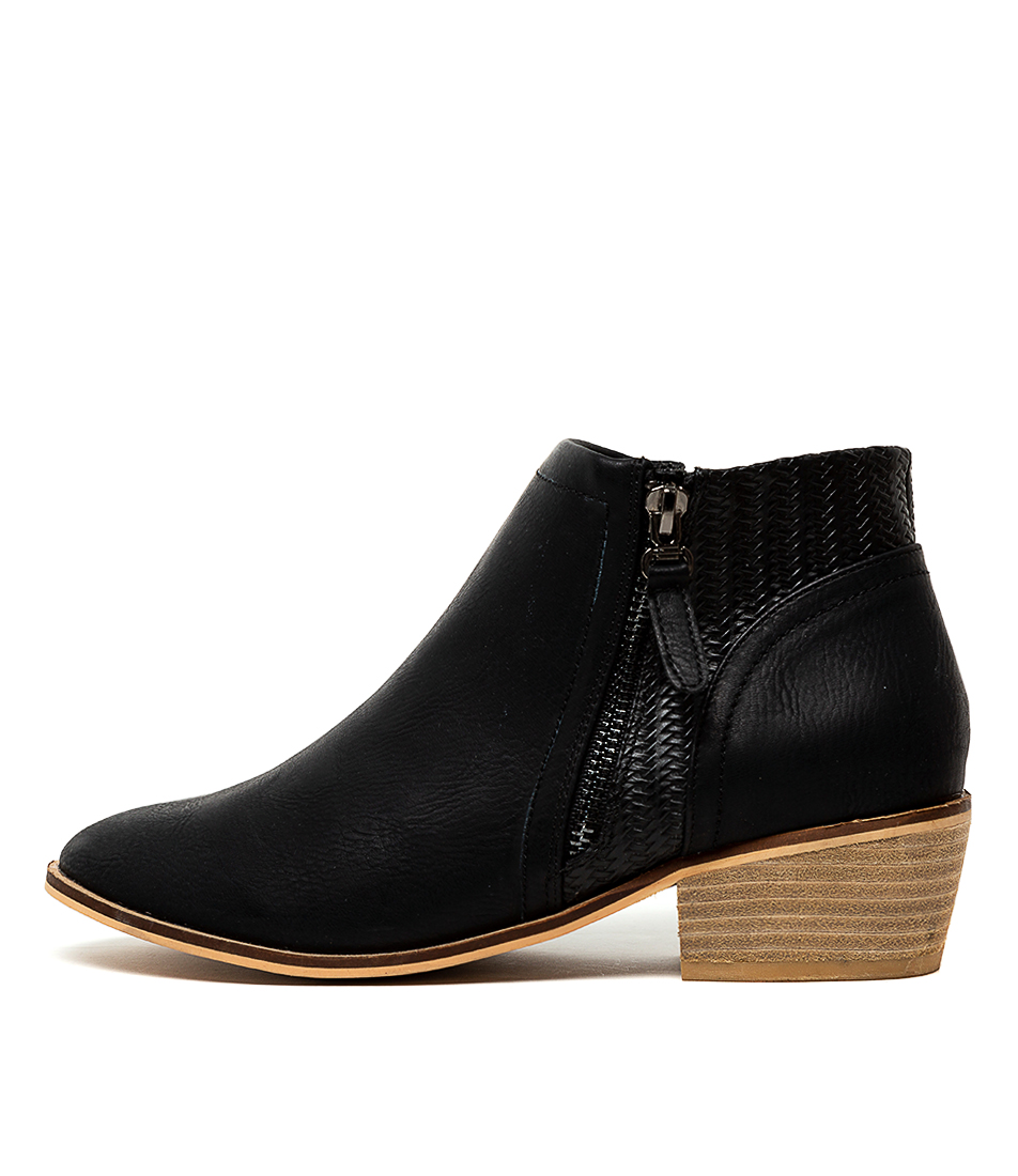 Buy Ko Fashion Earth Black Ankle Boots online with free shipping