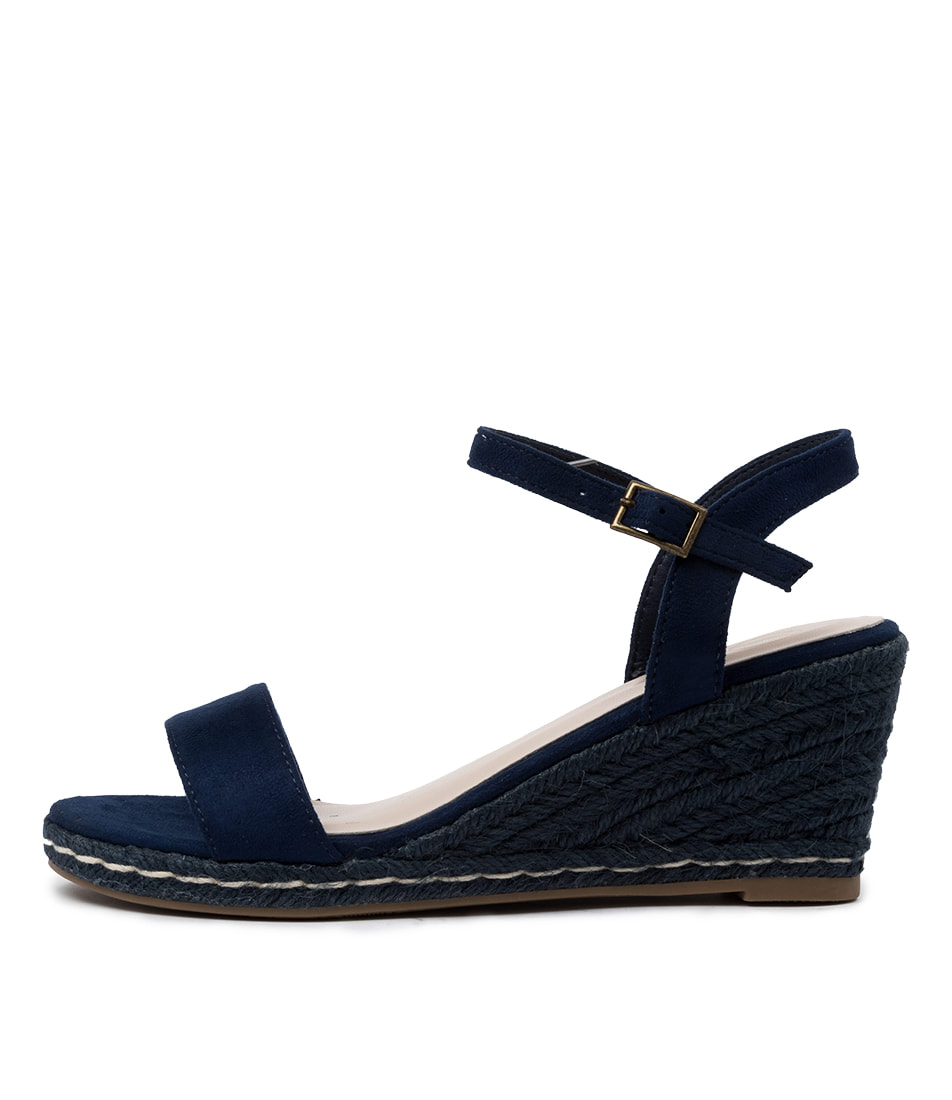 Buy Ko Fashion Arielle W Kf Blue Heeled Sandals online with free shipping
