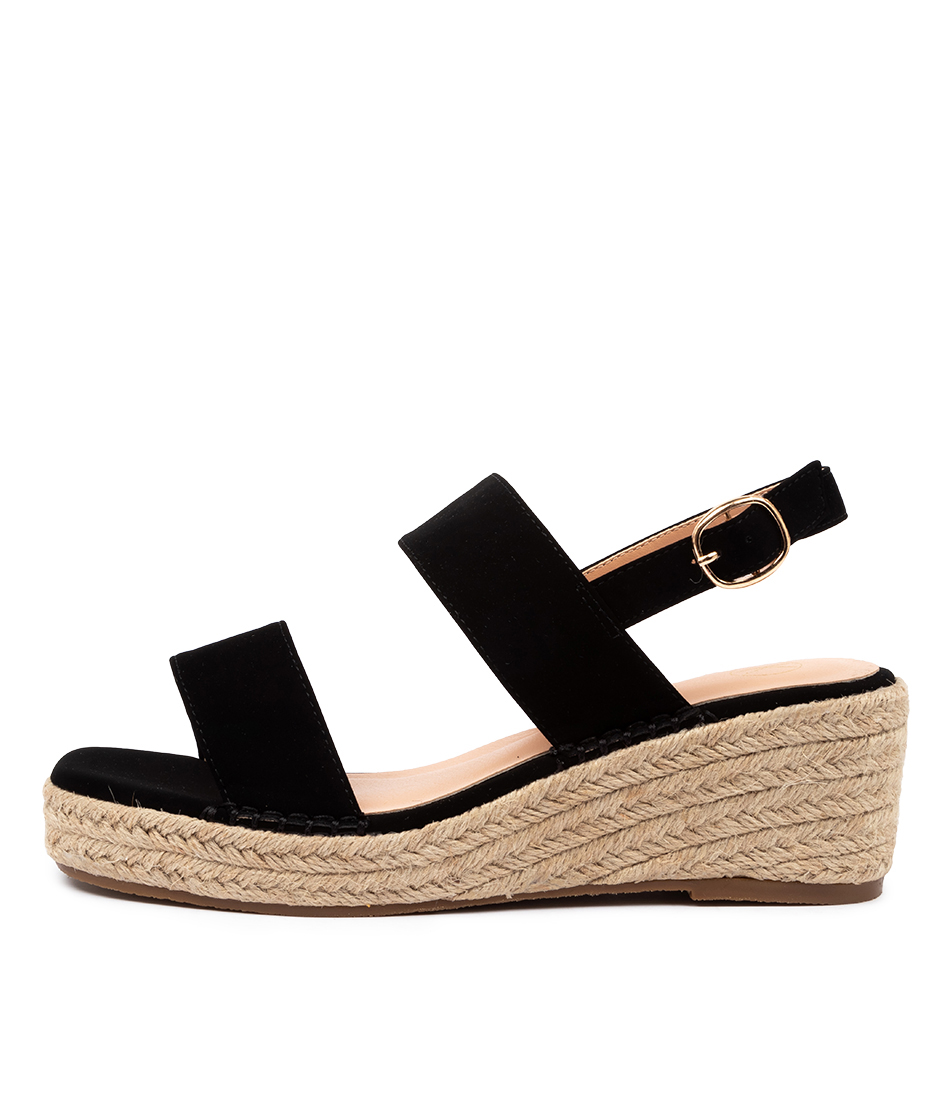 Buy Ko Fashion Ashli W Kf Black Heeled Sandals online with free shipping
