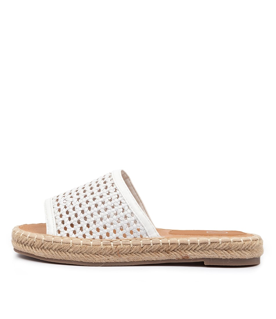 Buy Ko Fashion Drew W Kf White Flat Sandals online with free shipping