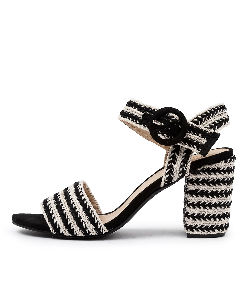 Buy Ko Fashion Tropicola W Kf Black Heeled Sandals online with free shipping