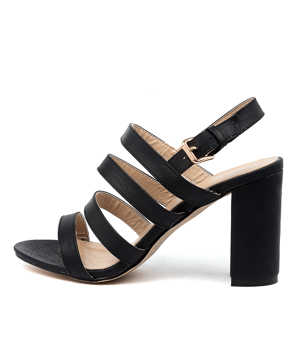 Buy Ko Fashion Lolli W Kf Black Heeled Sandals online with free shipping