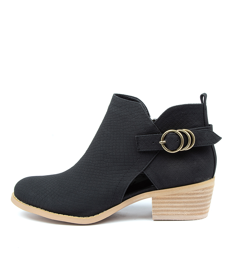 Buy Ko Fashion Ethos Kf Black Snake Ankle Boots online with free shipping